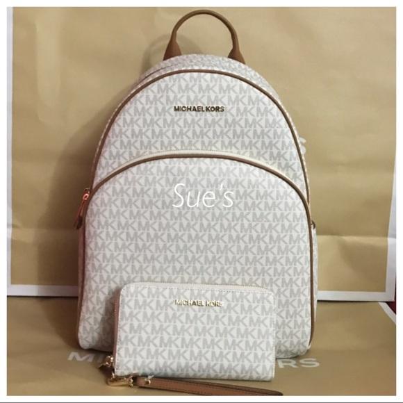 d697074de9a3 NWT MK Abbey Large Backpack   Multifunction Wallet